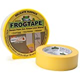 FrogTape 280221 Delicate Surface Painting Tape, 1.41-Inch x 60-Yard, Single Roll, Yellow