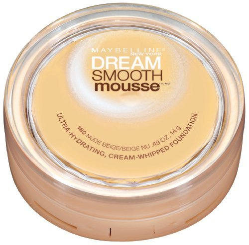 Maybelline New York Dream Smooth Mousse Foundation, Nude Beige, 0.49 Ounce, 2 Ea