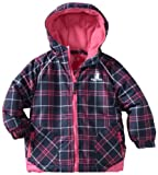 Rugged Bear Girls 2-6x Printed Plaid Ski Jacket