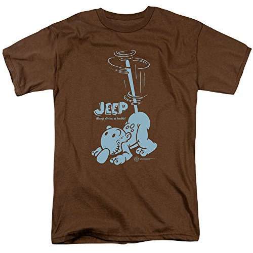 Popeye Stirring Up Trouble Jeep Cartoon T-Shirt