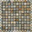 1x1 Golden White Tumbled Quartzite Mosaic Tiles for Backsplash, Shower Walls, Bathroom Floors, Jacuzzi, Swiming Pools