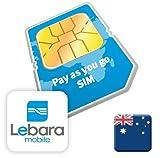 51mjMyOBKHL. SL160  Australia Lebara Mobile Prepaid SIM Card $10