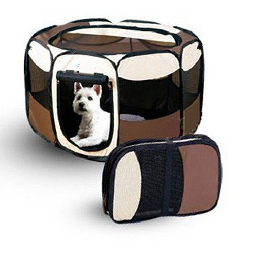 Hundetransportbox-Hunde-Katze-Transportbox-Hundehtte-Htte-fr-Hunde-Katzen-Hasen-Kleintiere-L-91x91x58-CM