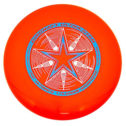 Discraft 175 gram Ultra Star Sport Disc, Bright Orange - 1