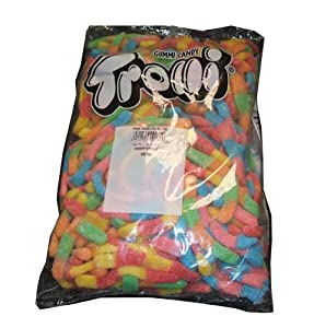 "Trolli ""King Size"" Large Brite Crawlers Gummi Candy Worms, 5lb Bulk Bag"