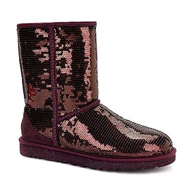 UGG Australia Womens Classic Short Sparkles Boot Port Size 5