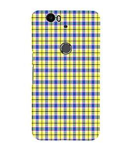 EPICCASE lemon checks Mobile Back Case Cover For Huawei Nexus 6P (Designer Case)