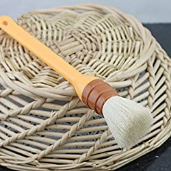Round Plastic Handle Wool Brush Egg Oil Brush BBQ Brush Baking Tool(1PC)
