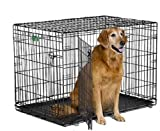 MidWest iCrate Double-Door Folding Metal Dog Crate, 42 Inches...