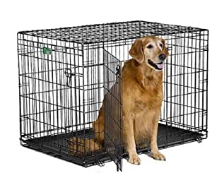 MidWest iCrate Double-Door Folding Metal Dog Crate, 42 Inches by 28 Inches by 30 Inches