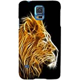For Samsung Galaxy S5 Neo :: Samsung Galaxy S5 Neo G903F :: Samsung Galaxy S5 Neo G903W Wild Beauty ( Wild Beauty, Good Quotes, Dangerous Tiger, Tiger ) Printed Designer Back Case Cover By TAKKLOO