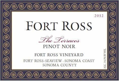 2012 Fort Ross The Terraces Pinot Noir, Fort Ross-Seaview, Sonoma Coast 750 Ml