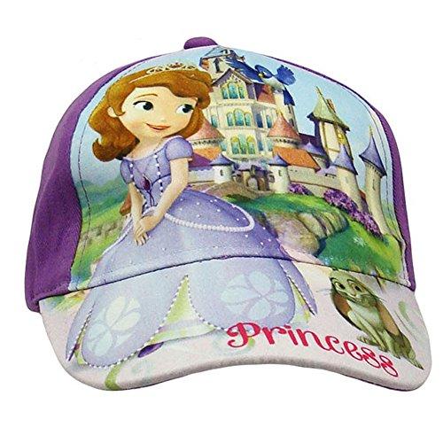 Sofia La Principessa Disney Cappello con Visiera Baseball con Chiusura Regolabile Prodotto Ufficiale Novità [54 cm - Viola]