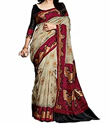 RGR Enterprice Woman's Bhagalpuri Designer Saree (Amisha print_Multi-Coloured_Free Size)