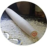 Best Professional French Rolling Pin - Hard Maple Wood with Tapered Ends