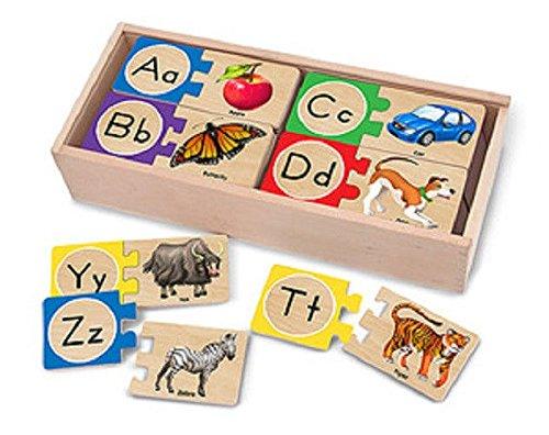 Melissa & Doug Self-Correcting Alphabet Letters Puzzles 2541 -New - 1