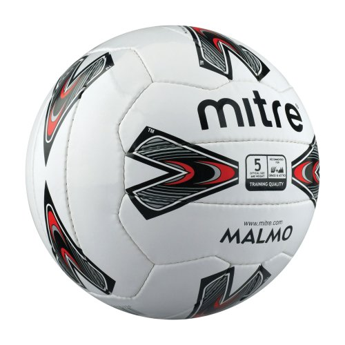 Mitre Malmo Training Football White Size 3