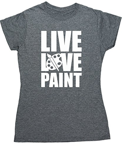 hippowarehouse-live-love-paint-womens-fitted-short-sleeve-t-shirt
