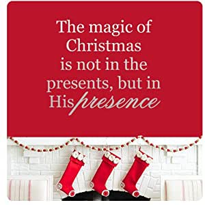 Amazon.com: The magic of Christmas is not in the presents but in His Presence...