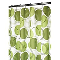 Park B. Smith Circle Central Shower Curtain White/Green
