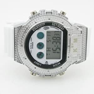 King Master Mens 0.12ctw Diamond Shock Watch KM014