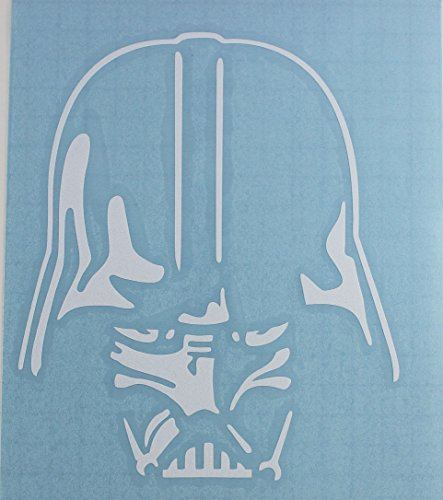 C&D Visionary Star Wars Vader Head Down Rub-On Sticker, White - 1