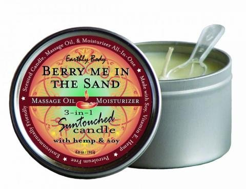 3-In-1 Berry Me In The Sand Suntouched Candle With Hemp - 6.8 Oz.