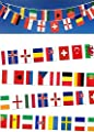 HUGE 10m (33ft) 24 TEAMS EUROS 2016 FABRIC BUNTING INTERNATIONAL FLAG PENNANTS