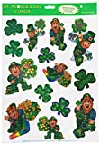Leprechaun and Shamrock Clings Party Accessory (1 count) (14 Sh)