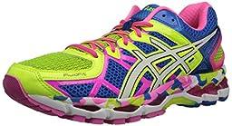 ASICS Women\'s Gel-Kayano 21 Running Shoe,Flash Yellow/White/Black,8 M US