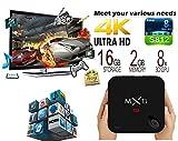 Trongle MX3-G MXIII G Boîtier TV Android, S812 Quadricône Smart TV Box 4K*2K Full HD Lecteur Média avec Gigabit Ethernet Android 5.1 Lecteur Vidéo Plein Charge KODI 4K 2G RAM + 16G ROM pour Netflix, Youtube, Facebook, Skype et de Nombreux Programmes de Télévision...