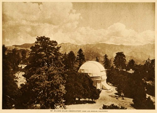 1917 Photogravure Mount Wilson Solar Observatory Los Angeles Telescope Jupiter - Original Photogravure