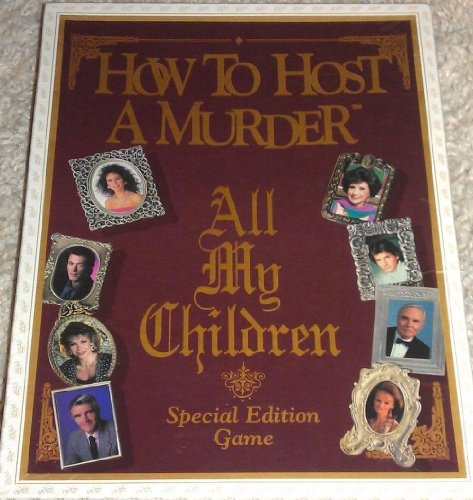 How to Host a Murder All My Children Special Edition Game (All My Children Game compare prices)