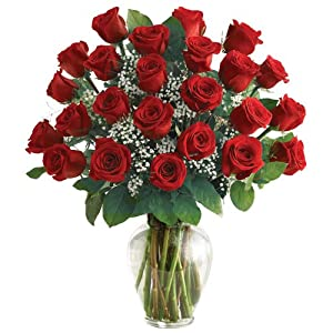 1800Flowers - Ultimate Elegance Premium Long Stem Red Roses - 24 Stem Red Roses
