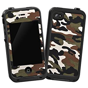 "Woodland Camouflage ""Protective Decal Skin"" for LifeProof iPhone 4/4s Case"