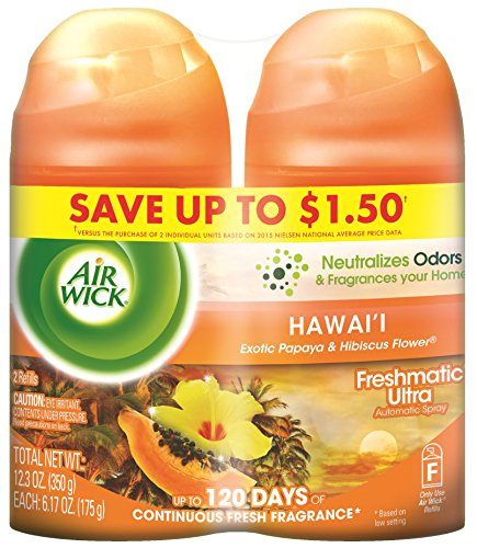 Air Wick Freshmatic Automatic Spray Refill Air Freshener, National Park Collection, Hawaii, 2 Refills, 6.17oz (Papaya Air Freshener compare prices)