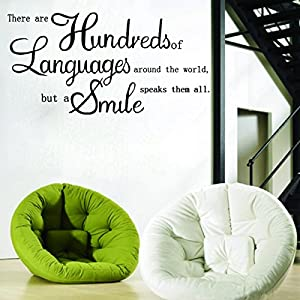"""There Are Hundreds of Languages""DIY Letter Proverb Removable Vinyl Quote Decal Wall Sticker Art Mural Home Decor by homeking"