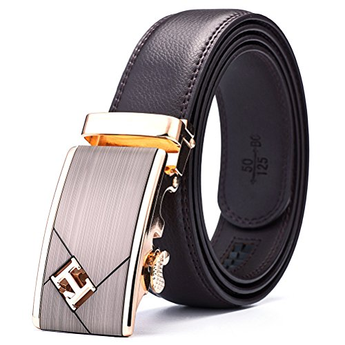 Mt.mit Leather Ratchet Belt Auto Lock Buckle for Men's Bussines Belt (MT15CB51123) (Cool Belt Buckels compare prices)