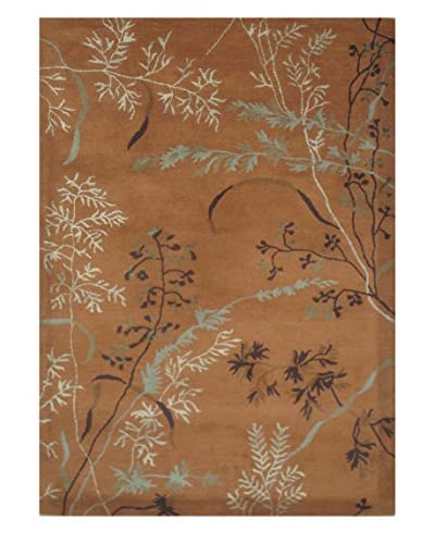 Wildflowers II Rug, Brown, 5' x 8'