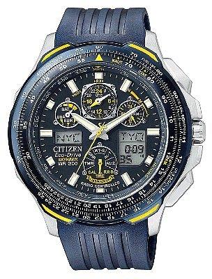 Citizen Men's JY0064-00L Eco-Drive Blue Angels Skyhawk AT Chronograph Rubber Strap Watch