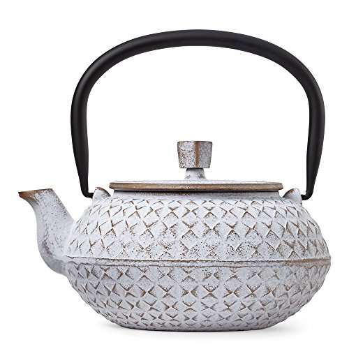 White Grid Cast Iron Teapot by Teavana (Teavana Teapot White compare prices)