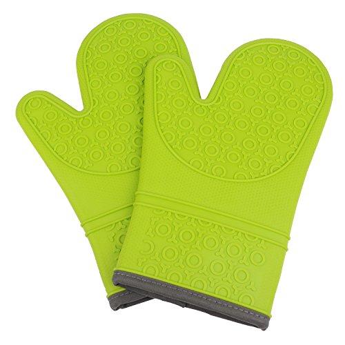 Kuuk Gants de Four Qualité Premium avec Surface anti-dérapante (1 Paire) (Vert)