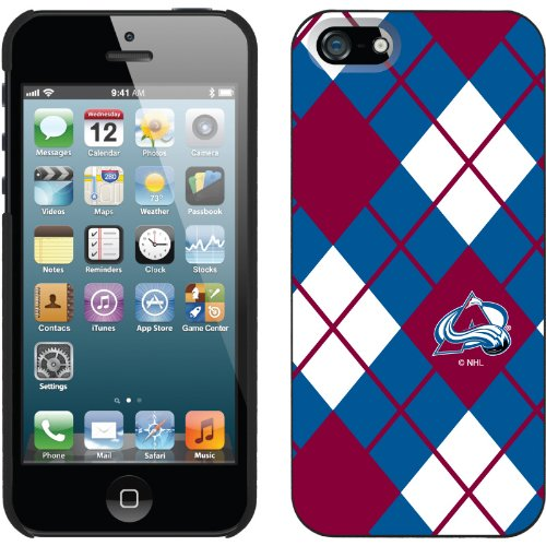 Best Price Colorado Avalanche« - Argyle design on a Black iPhone 5s / 5 Thinshield Snap-On Case by Coveroo