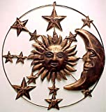 Sun Moon & Stars Metal Wall Hanging Garden Art 20