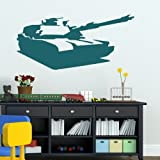 Boys Army Tank -Removable Wall Decal / Large Art Transfer / Vinyl Graphic ne11