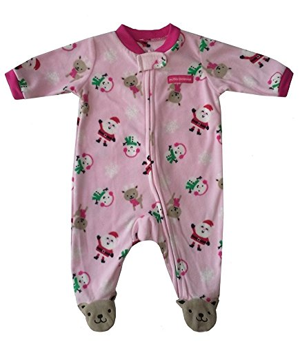 Carter'S Girl'S My First Christmas Fleece Sleeper (0-3 Months) front-142200