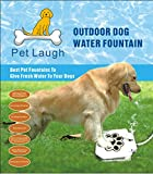 """UPDATED VERSION"" Dog Water Fountain Pet Laugh Automatic Dog Waterer Step-on Outdoor Fresh Cold Drinking Water for Dogs, UPDATED VERSION NO LEAKAGE AT ALL"