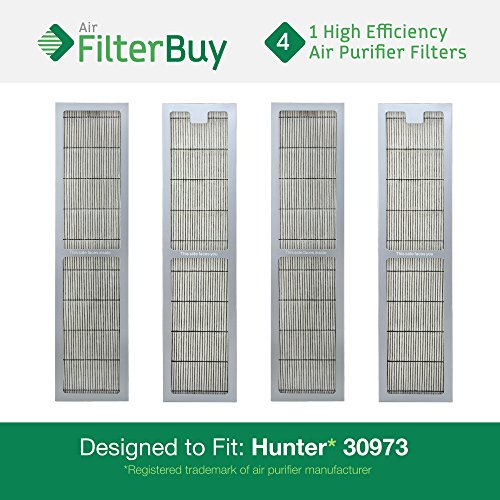 4 - Hunter 30973 Air Purifier Replacement Filter. Designed by FilterBuy to fit Hunter Models 30890 & 30895. (Hunter Filter Replacement 30406 compare prices)