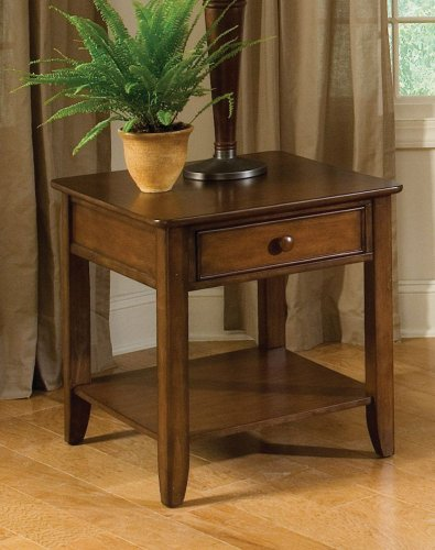 Cheap Hialeah Court End Table In Warm Cherry by Standard Furniture (B004ZLG8JW)