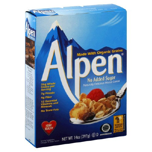 Alpen, Cereal Nsa Ns, 14-Ounce (12 Pack)